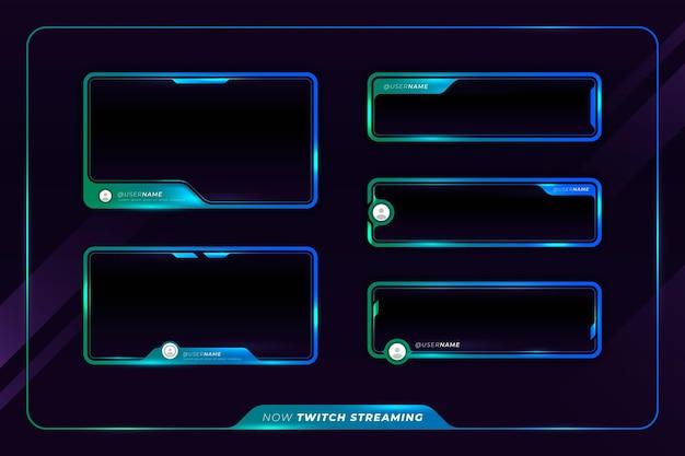 Paneles de transmisión twitch