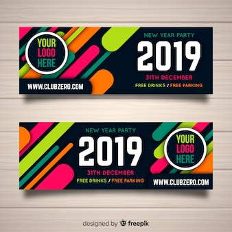 Panfleto de fiesta de año nuevo 2019