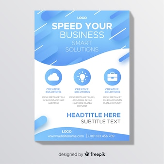 Panfletos de negocios
