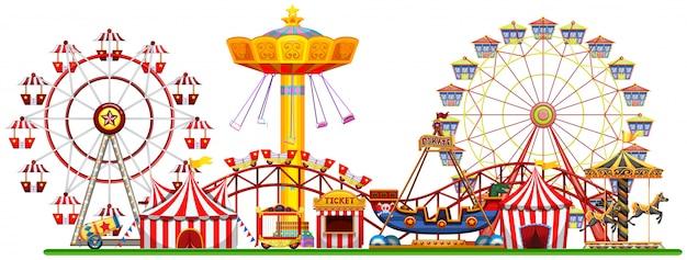 Un panorama de la feria de diversión