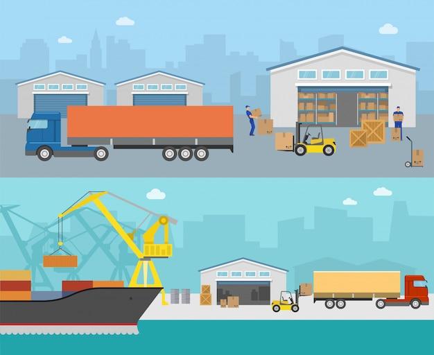 Panorámicas de envío de mercancías