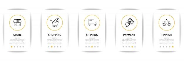 Pantalla de aplicación móvil con icono de negocio.