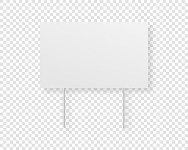 Pantalla de cartelera en blanco. tablero de publicidad exterior. aislado. diseño de plantilla ilustración realista