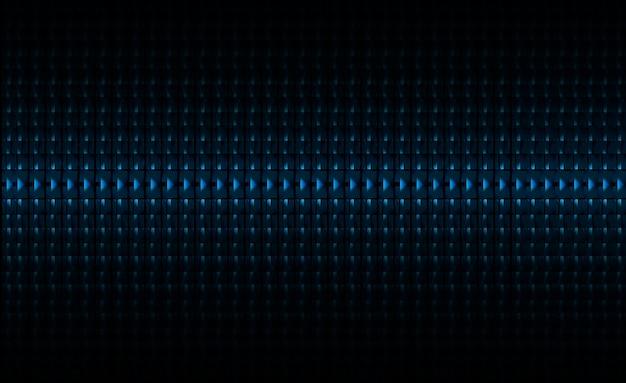 Pantalla de cine led azul para presentación de películas. fondo de tecnología de luz abstracta