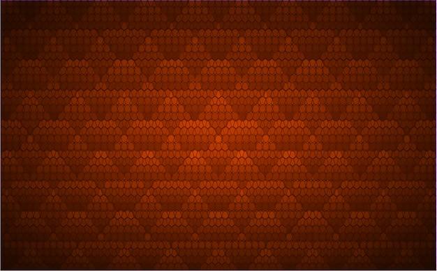 Pantalla de cine led naranja para presentación de películas. fondo de tecnología de luz abstracta