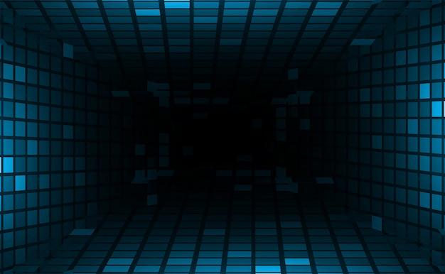 Pantalla de cine led para presentación de películas. fondo de tecnología de luz abstracta