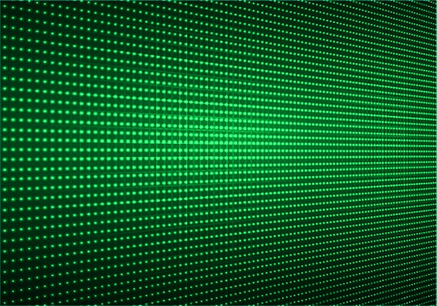 Pantalla de cine led verde para presentación de películas. fondo de tecnología de luz abstracta
