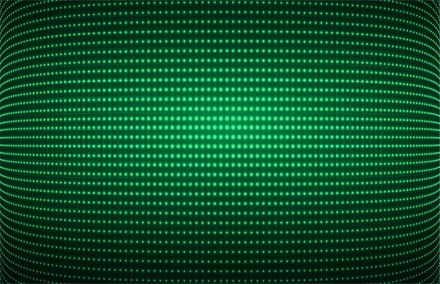 Pantalla de cine led verde para presentación de películas.