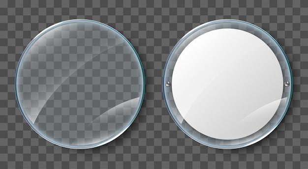 Pantalla de cristal. cartel en blanco en marco de cristal realista aislado sobre fondo transparente. cartel de acrílico de pared transparente