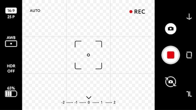Pantalla de enfoque de la cámara del teléfono inteligente en blanco