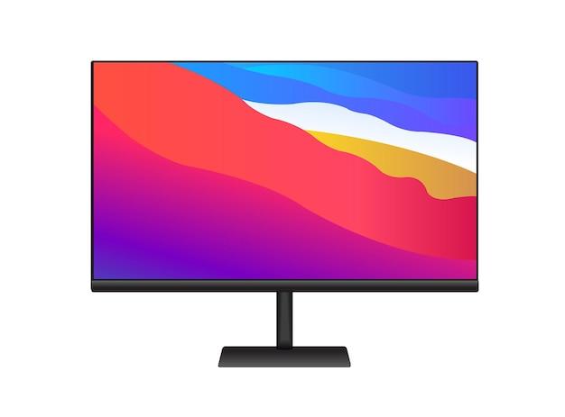 Pantalla del monitor de computadora