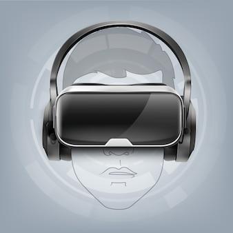 Pantalla óptica montada en la cabeza o gafas de realidad virtual