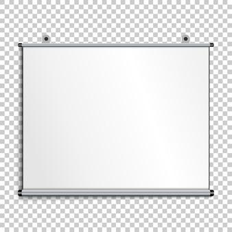 Pantalla de presentación en blanco
