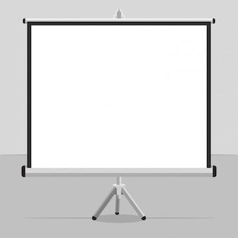 Una pantalla proyectada con un trípode para tus presentaciones.