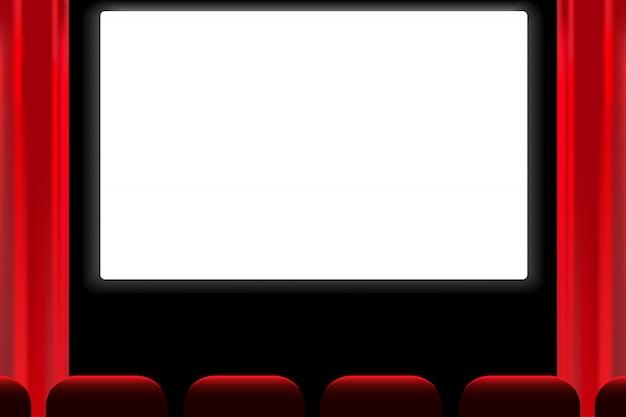 Pantalla de sala de cine de vectores.
