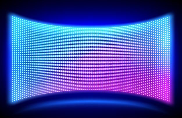 Pantalla de video led de pared con luces de puntos brillantes vector gratuito