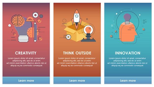 Pantallas de abordaje para el concepto de plantillas de aplicaciones móviles