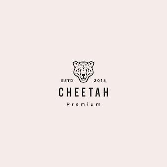 Pantera guepardo cabeza logo vector icono ilustración