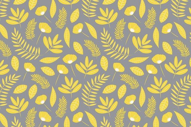 Pantone 2021 fondo floral dibujado a mano