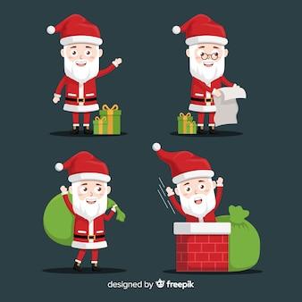 Papá noel con regalos y lista traviesa