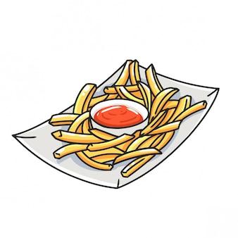 Papas fritas con salsa