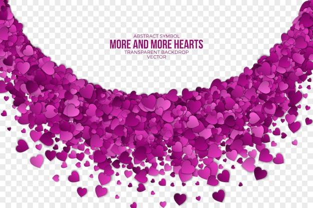 Papel 3d corazones cayendo resumen antecedentes