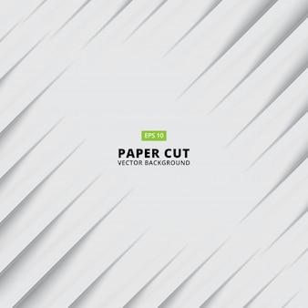 Papel abstracto cortado fondo blanco