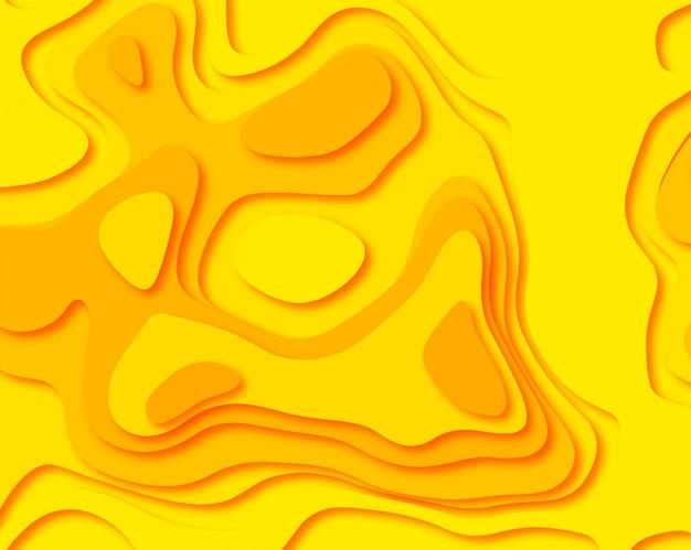 El papel abstracto cortó la ilustración colorida del fondo