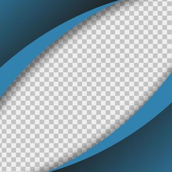 Papel azul sobre fondo transparente