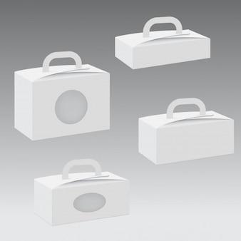 Papel en blanco o caja de cartón