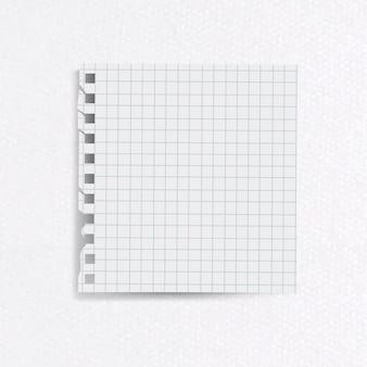 Papel de carta rayado en blanco sobre fondo de papel con textura