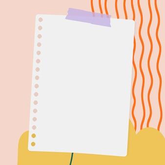 Papel de carta sobre un fondo pastel