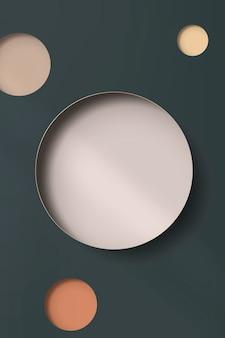 Papel de colores con muescas redondas con fondo de sombra