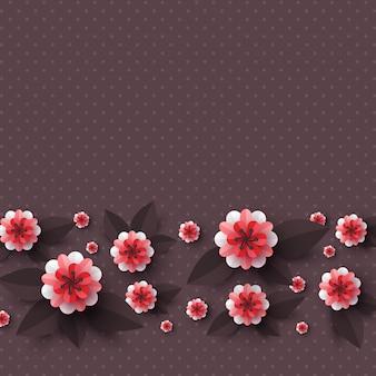 Papel cortado flores decorativas.