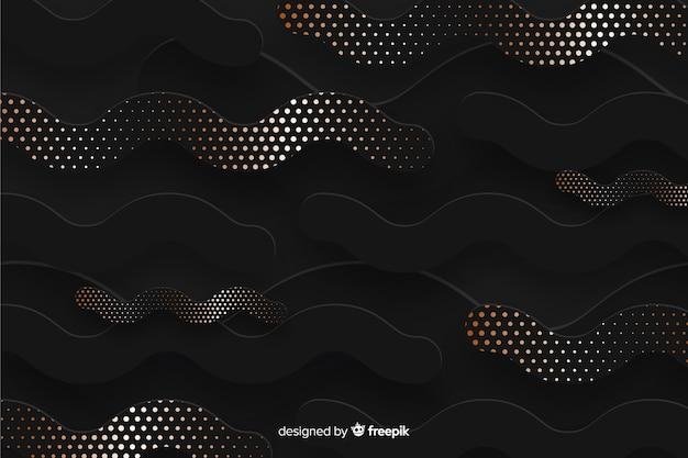 Papel cortado formas papel tapiz efecto de semitono