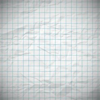 Papel de cuaderno abollado viejo con lugar para el texto. ilustración vectorial