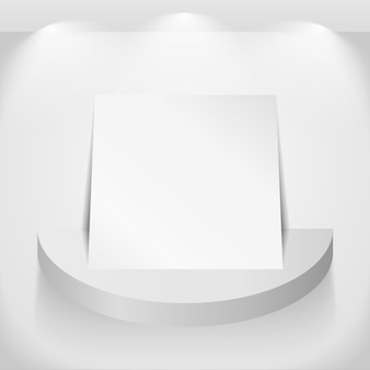 Papel en estante redondo