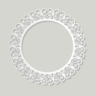 Papel de marco de filigrana cortado. diseño vintage barroco.