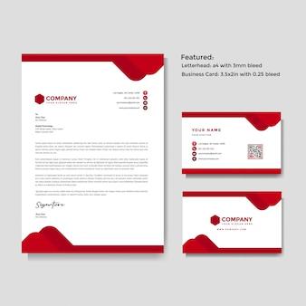 Papel con membrete creativo profesional y tarjeta de visita