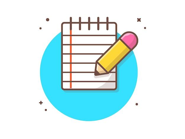 Papel de nota con lápiz