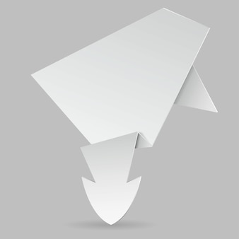 Papel origami flecha