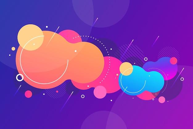 Papel pintado abstracto con formas redondas