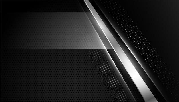 Papel pintado abstracto negro con líneas plateadas