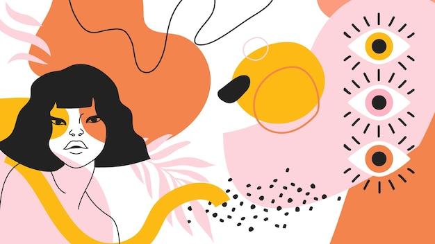 Papel pintado abstracto