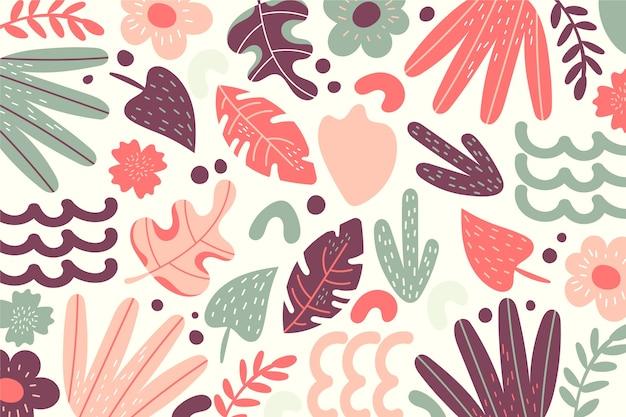Papel pintado colorido de formas orgánicas