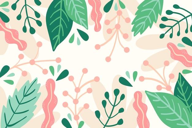 Papel pintado con concepto floral