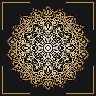 Papel pintado decorativo dorado mandala