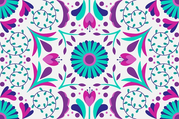 Papel pintado decorativo mexicano colorido