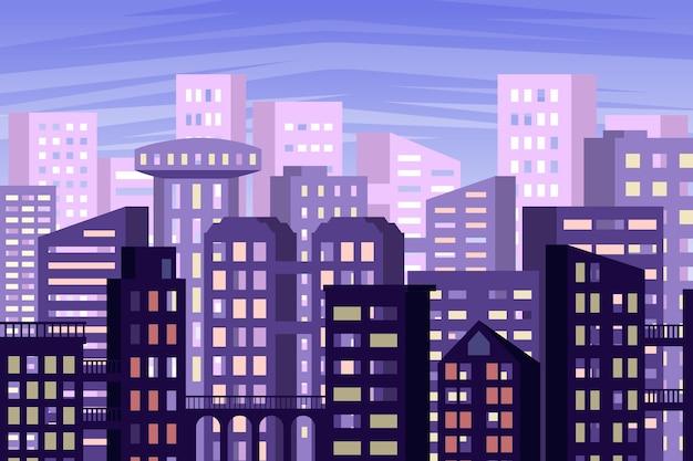 Papel pintado con diseño de ciudad urbana