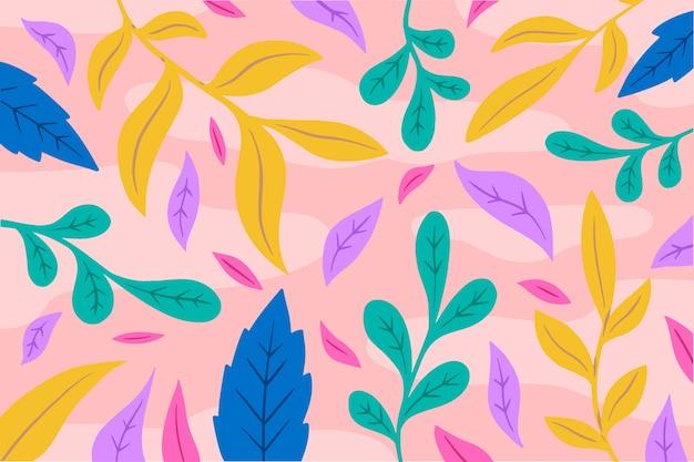 Papel pintado con diseño floral